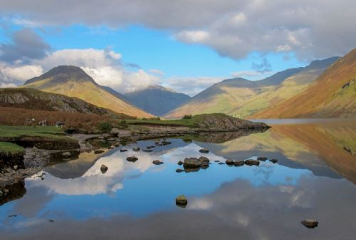Landscape Framed Canvas Wall Art - Reflections of the Lake District